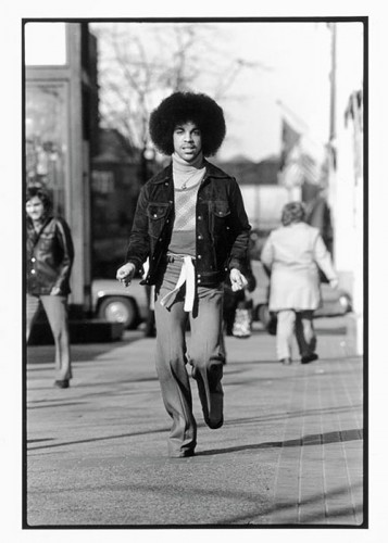 Prince on the streets of Minneapolis, 1978