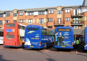 Buses on Gloucester Green