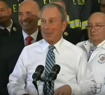 Bloomberg at a press conference on Univision