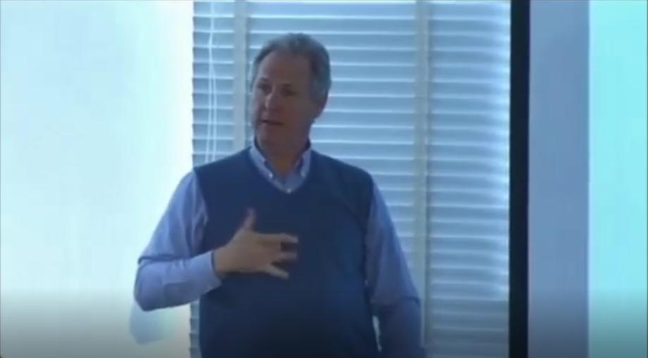 Deaf scholar Ben Bahan gives a lecture about Deaf architecture